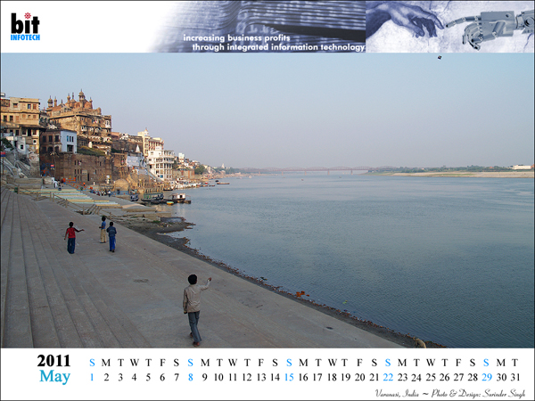 Calendar 2011 Varanasi, India : bitINFOTECH New Delhi, India.